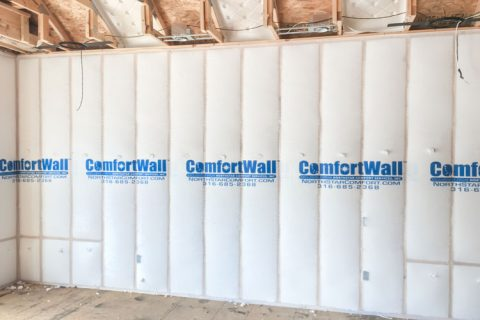Northstar insulation ComfortWall installed in home ready for insualtion